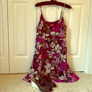 Elle Purple Floral Dress